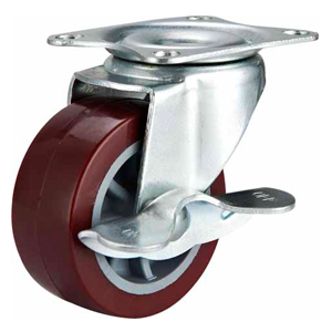 Light Duty Polyurethane Caster Side Brake